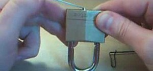 Pick a lock with a pen clip