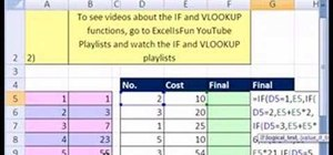 Replace an Excel IF formula with a VLOOKUP function