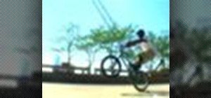 Perform a manual on a BMX bicycle