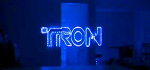 Meticulously Crafted Tron Optical Illusion