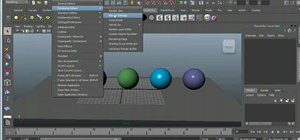 Use the renderer tools in Autodesk Maya 2011