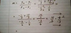 Find the slope of a line given 2 points with fractions