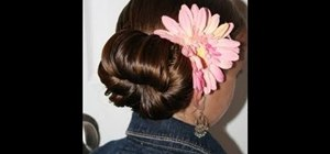 Create an adorable floral formal teen bun