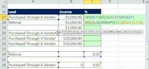 Calculate commissions with Excel's IF & VLOOKUP