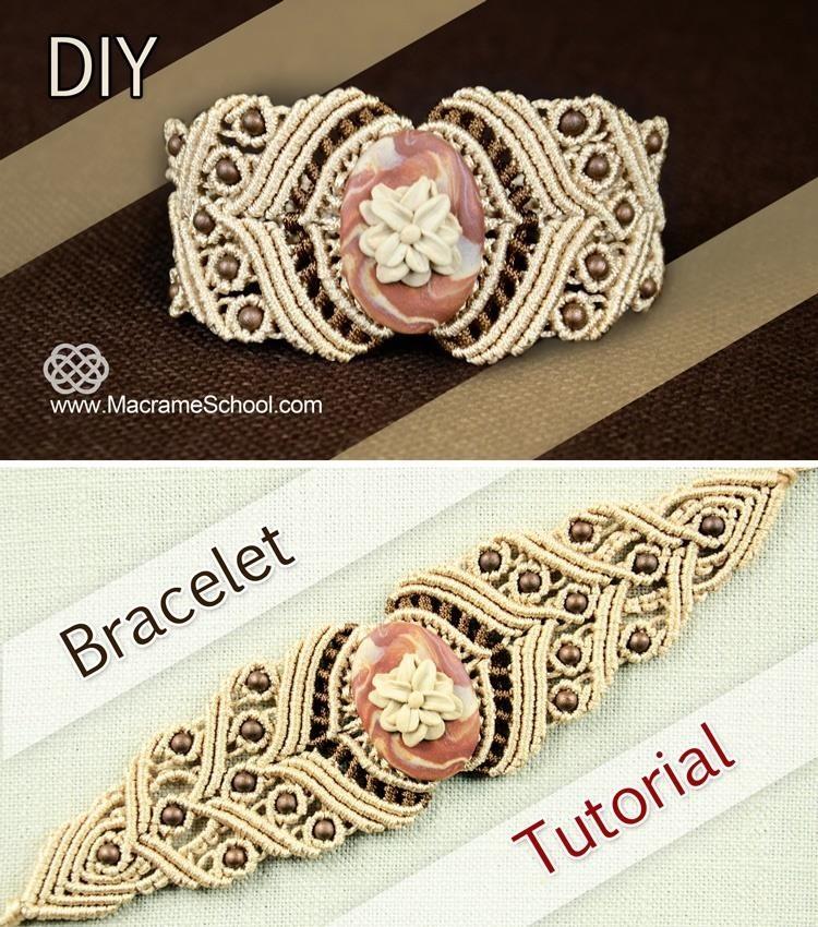 Macrame Bracelet with Stone - Tutorial