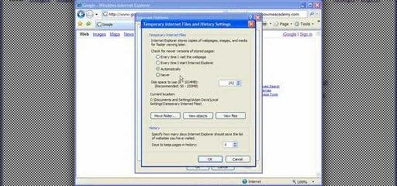 how to clear your cache in internet explorer
