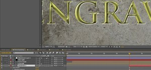Create gold-plated title text in Adobe After Effects CS4 or CS5