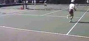 Run a live ball running cross court drill in tennis