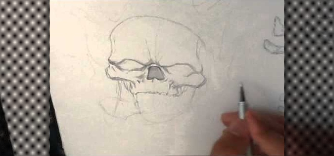 Draw a Skull on Fire