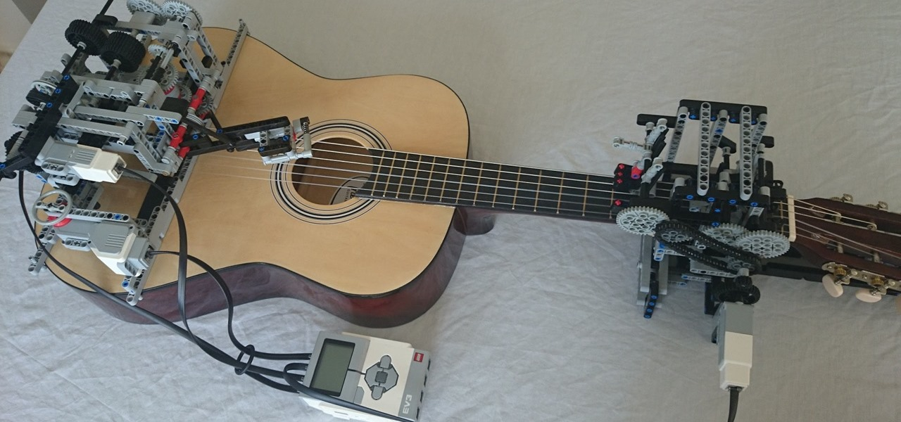 LEGO Robot Plays 'Little Talks' by Of Monsters & Men on Guitar