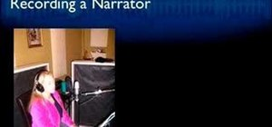 Record a narrator's voice for home recording artists