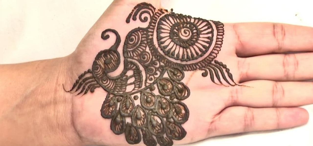 how to create an indian peacock mehndi design tattoo henna wonderhowto. Black Bedroom Furniture Sets. Home Design Ideas