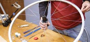 Properly lace a 32-spoke rear bicycle wheel
