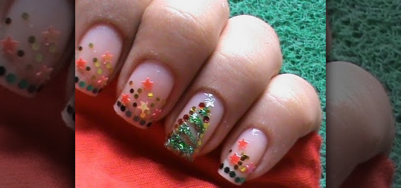 How to Christmas Tree Nail Design « Nails & Manicure :: WonderHowTo