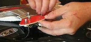 Replace, install, remove a guitar pickguard