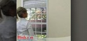 Install horizontal  blinds