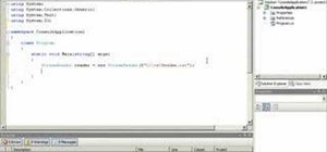 Read text from a text file into a C# application