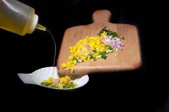 How to Make Crab Salad with Savory Basil Sherbet