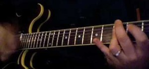 Jazz up minor chords with an electric guitar