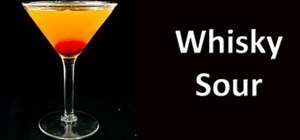 Mix a whiskey sour cocktail