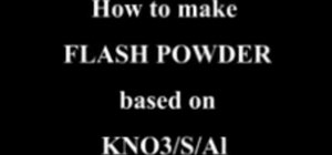 Make flash powder with KNO3, S, and Al