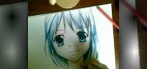 Draw & color an anime face easily