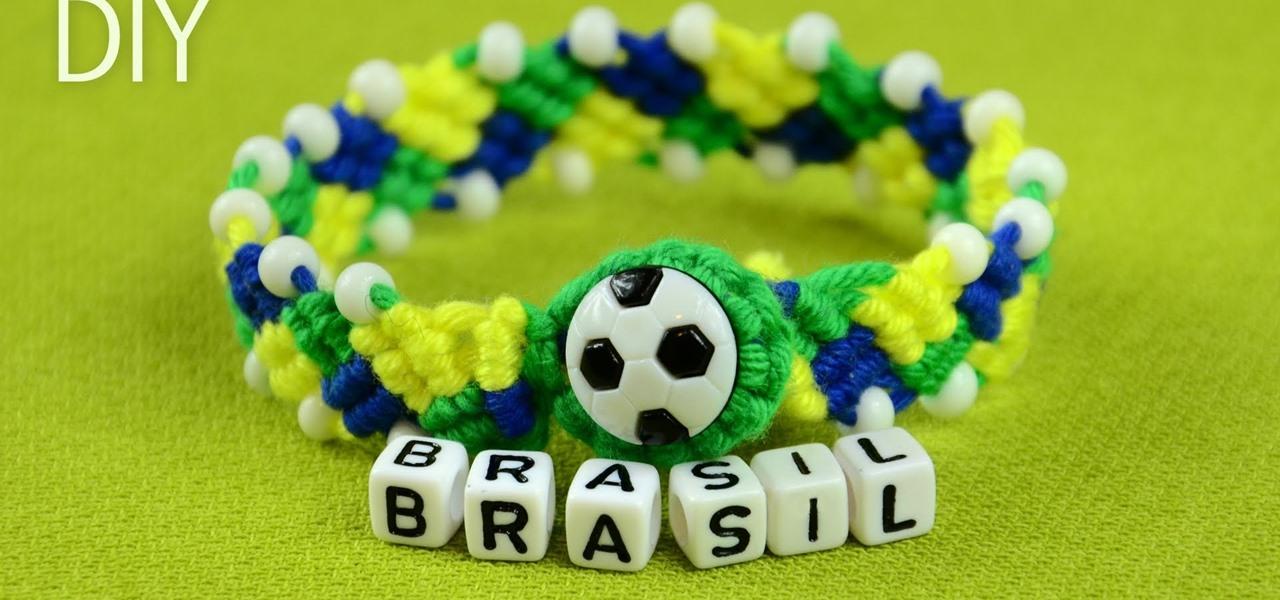 Make a FOOTBALL BRACELET