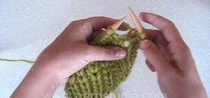 Knit a shaker rib stitch