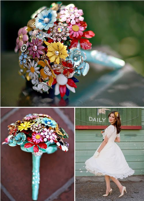 Vintage-Inspired Brooch Bouquets
