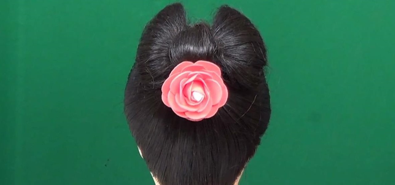 How To Make A Bow Bun For Short Hairstyles Hairstyling Wonderhowto