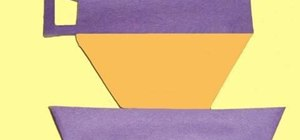 Make a tea cup from rectangle shapes with your child