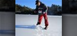 Go ice fishing in a frozen lake