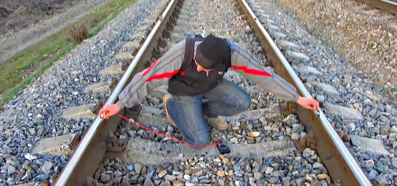 Charge a Cell Phone on Train Tracks