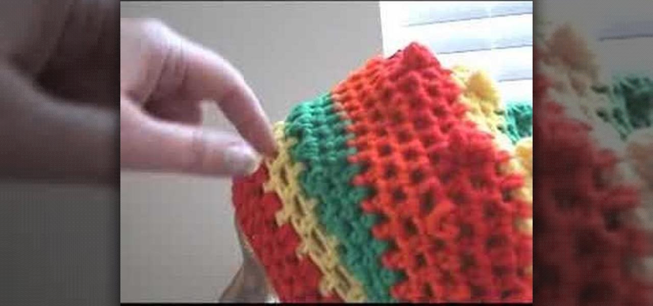 6ce6ccf57fb How to Crochet beret reggae rasta cap « Knitting   Crochet    WonderHowTo