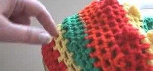 Crochet beret reggae rasta cap