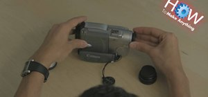 Change lenses on a camcorder