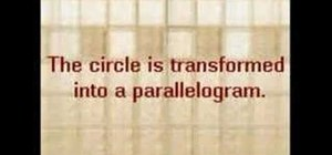 Calculate the area of a circle with visuals
