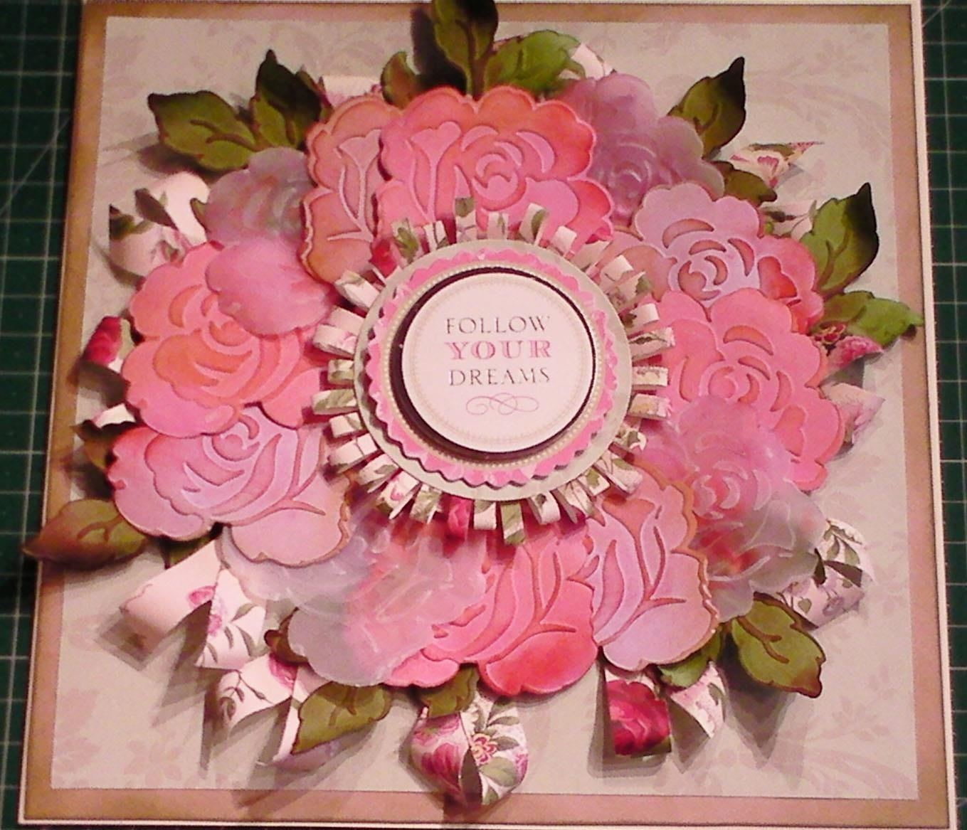 How to Make an Embossed Vellum Rose Wreath Card