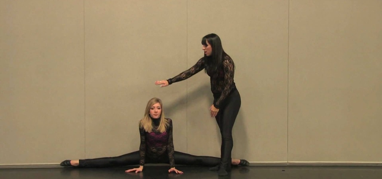 How to Use a wall to do split stretches « Ballet :: WonderHowTo