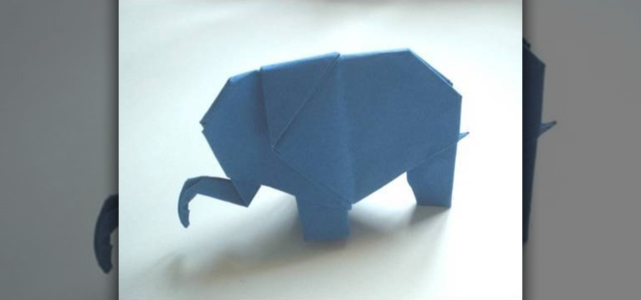 How To Make A Origami Elephant