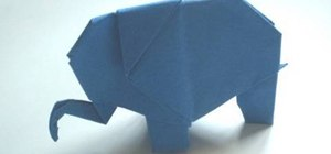 Make a cute origami elephant for beginners