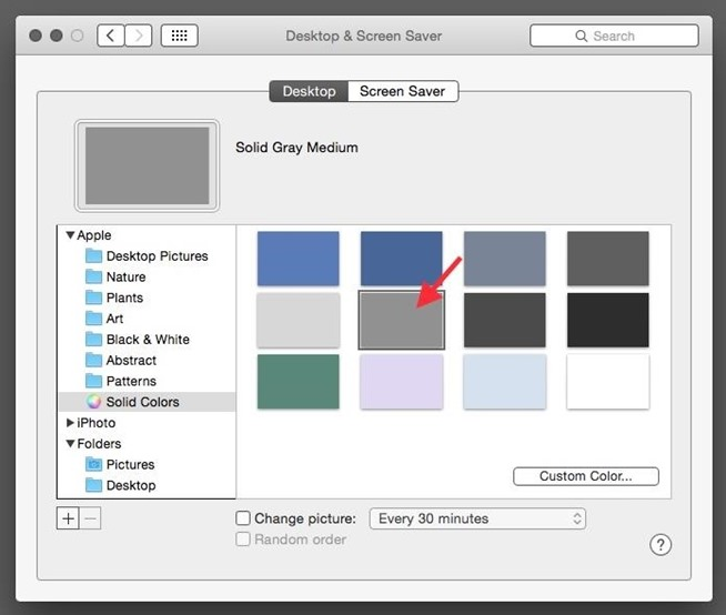 how to change mac os toolbar colour