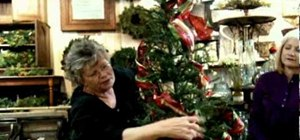 Use holiday ribbon to decorate your Christmas tree