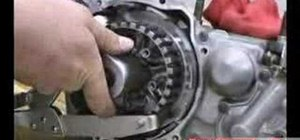 Rebuild the crank & transmission of a motorcycle / ATV