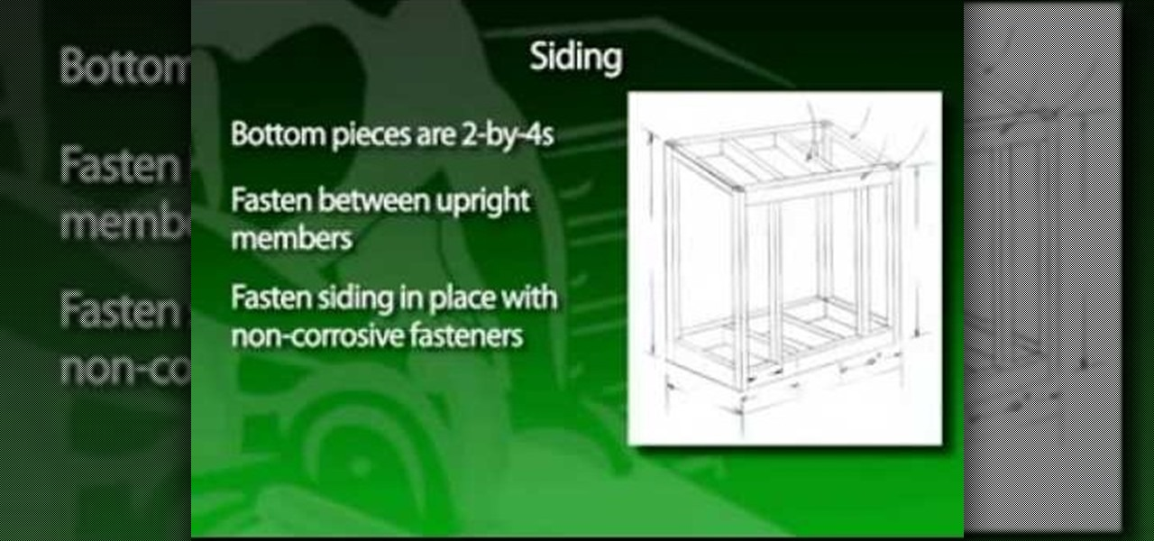How to build a garden tool shed construction repair wonderhowto - Build toolshed protect gardening tools ...