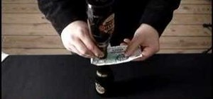 "Do the ""fast on the draw"" banknote bar trick"
