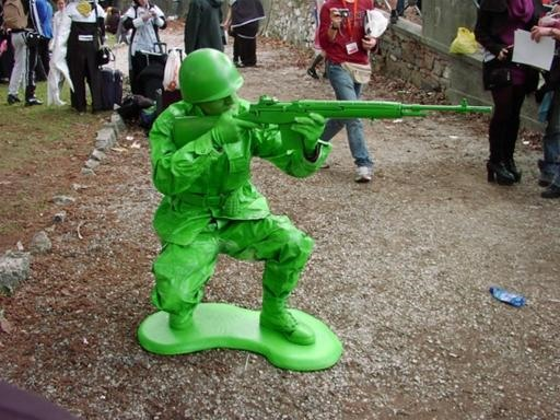Real Life Plastic Green Army Man