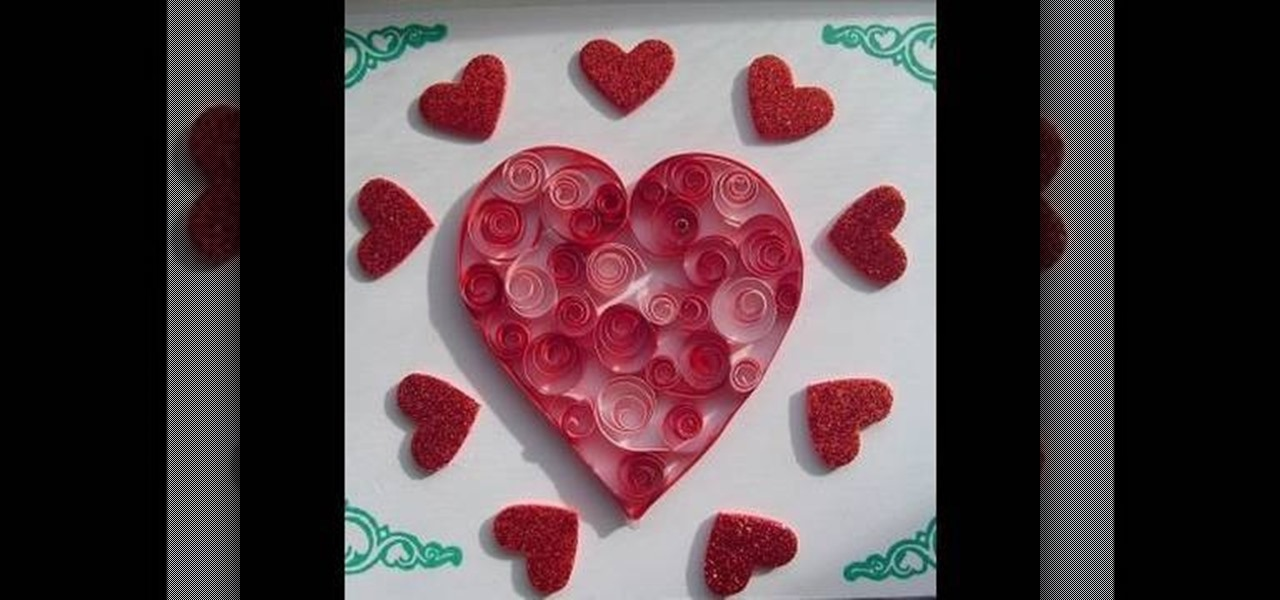How to craft a super easy quilled valentine 39 s day heart for Quilling heart designs