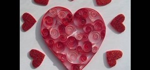 Craft a super easy quilled Valentine's Day heart